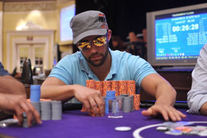 Joseph Hebert, seen in an undated file photo, is the chip leader heading into the final table o ...