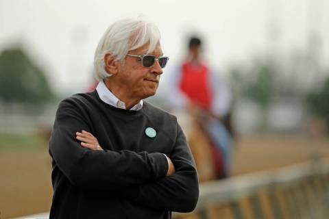 Trainer Bob Baffert is shown in this May 1, 2019, photo. (AP Photo/Charlie Riedel)
