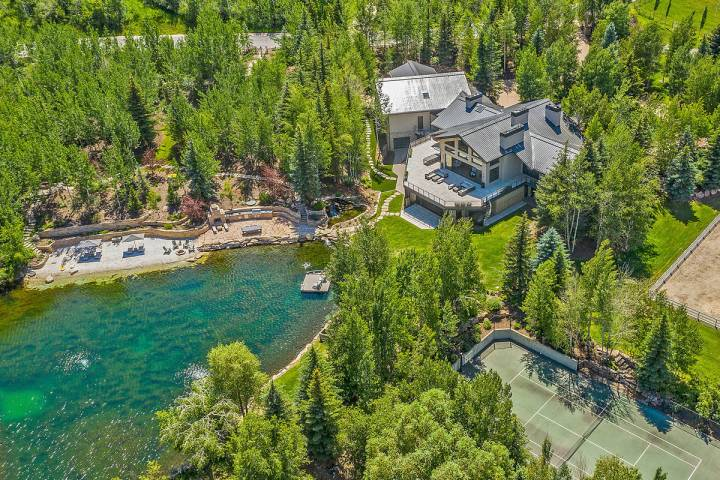 Tony Hsieh's mansion located at 2636 Aspen Springs Drive in Park City. (Paul Benson/Engel & Vol ...