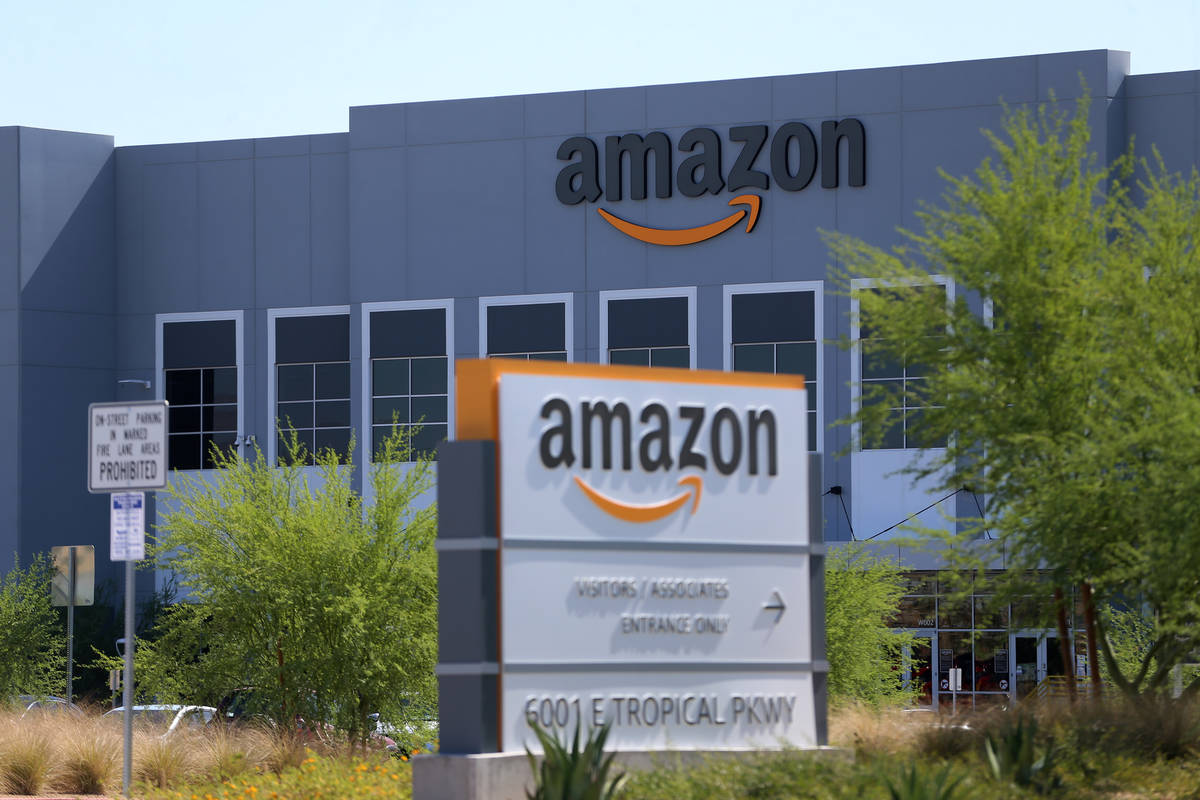 An Amazon distribution center at 6001 E. Tropical Parkway in North Las Vegas is seen Wednesday, ...