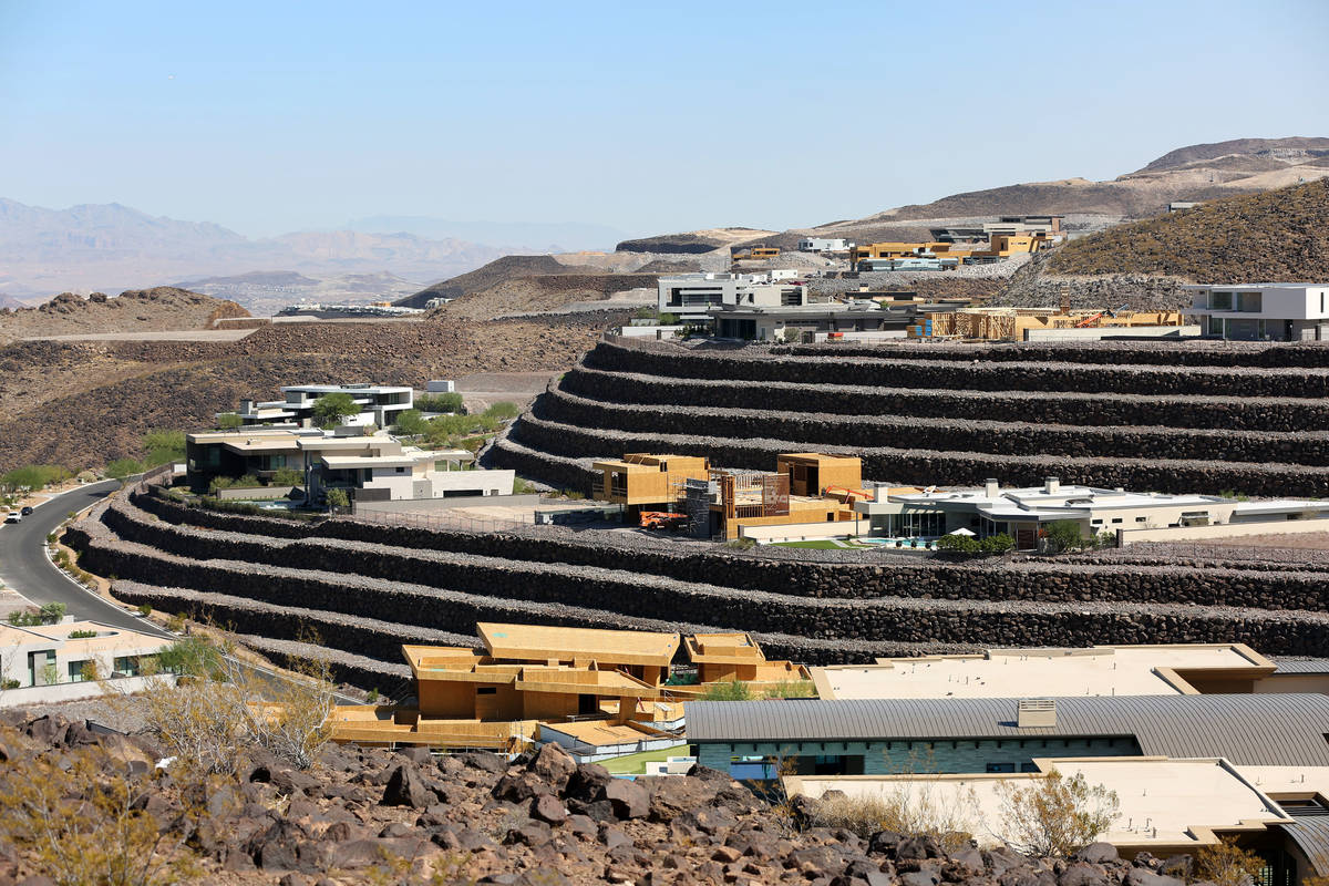 The custom-home community of Ascaya has a total of 313 lots in the McCullough Range in Henderso ...