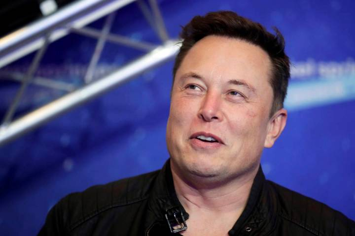 FILE - In this Dec. 1, 2020, file photo, SpaceX owner and Tesla CEO Elon Musk arrives on the re ...