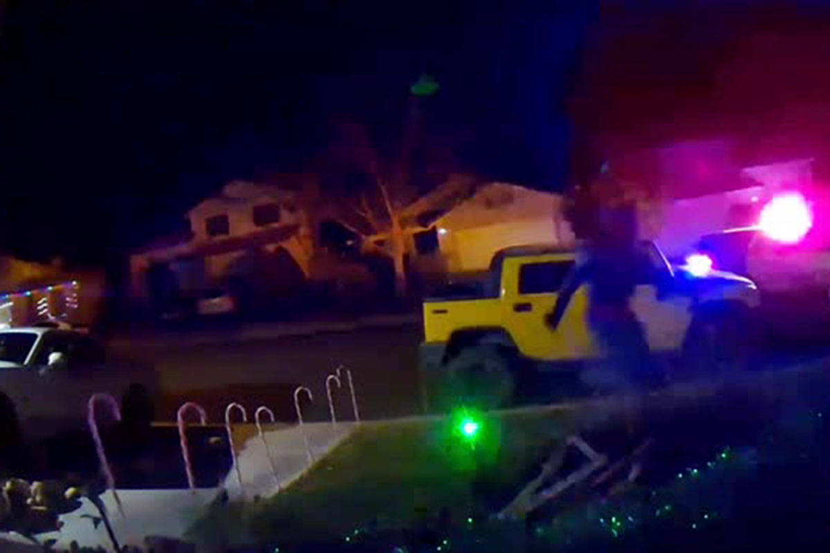 Videos recently posted to the Neighbors app appear to show officers chasing two men through a S ...