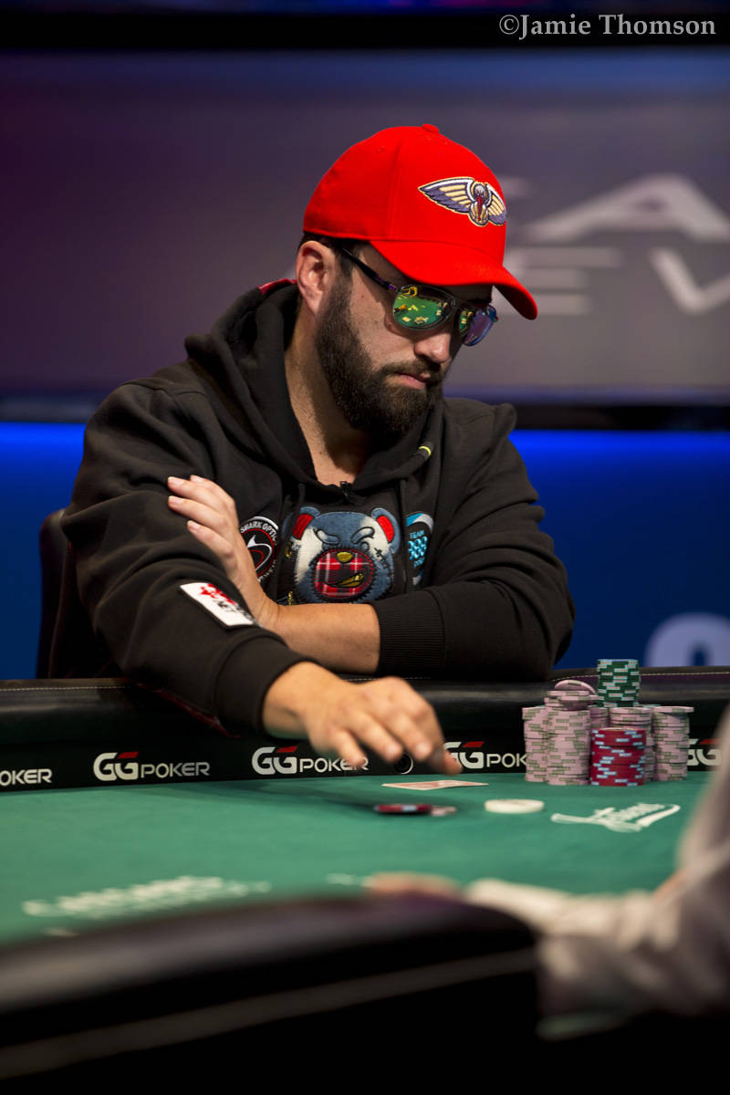 Joseph Hebert plays at the final table of the U.S. portion of the World Series of Poker Main Ev ...