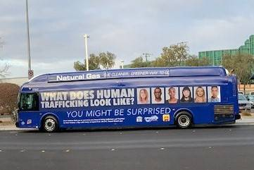 An RTC bus features the agency's human trafficking awareness ad that was launched this month. ( ...