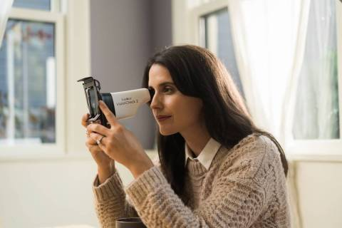 The EyeQue VisionCheck 2 lets customers test their vision at home and use the results to order ...