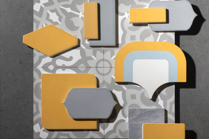These tiles from Walker Zanger feature the two colors chosen by the Pantone Color Institute: Ul ...
