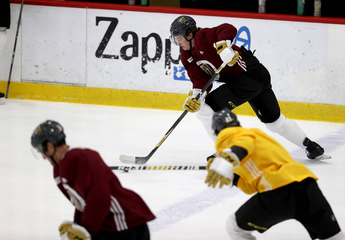 Golden Knights center Cody Glass (9) during training camp at City National Arena in Las Vegas T ...