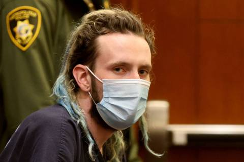 Jayden Hughes waits to appear in court at the Regional Justice Center in Las Vegas Wednesday, J ...