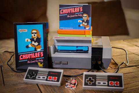 """A look at Austin """"Chumlee"""" Russell's new retro video game, """"The Quest For Pinky."""" (Kevin Hanley)"""