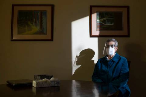 Funeral director Laura Sussman is photographed on Tuesday, Jan. 5, 2021, inside a planning room ...