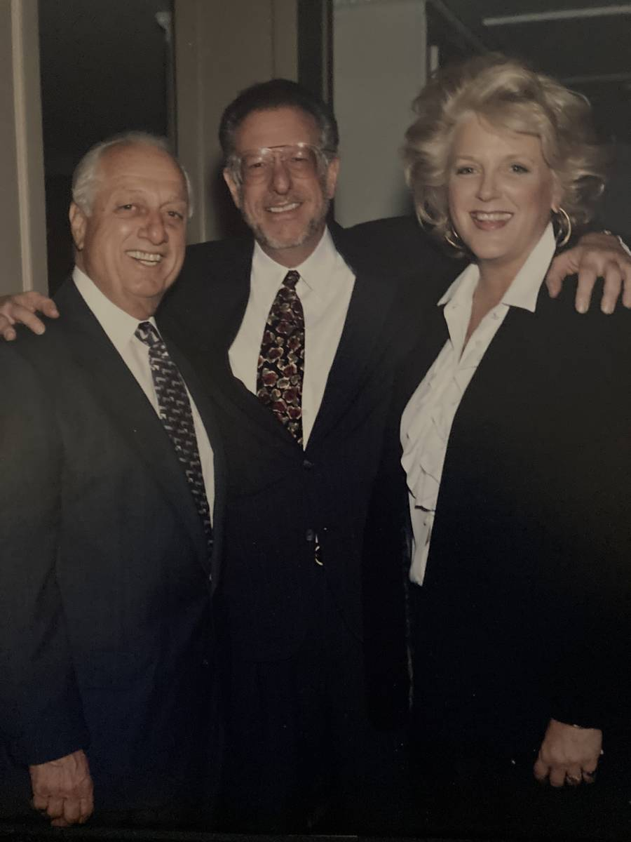 Tommy Lasorda, Oscar Goodman and Carolyn Goodman are shown at the Goodmans' home in Las Vegas i ...