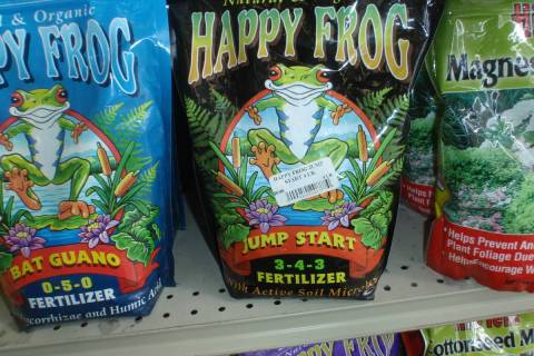 Organic fertilizers like Happy Frog are oftentimes slow in releasing their plant nutrients like ...