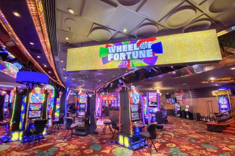 The Wheel of Fortune Slot Zone debuted on Thursday inside the Plaza's gaming floor. (Courtesy ...