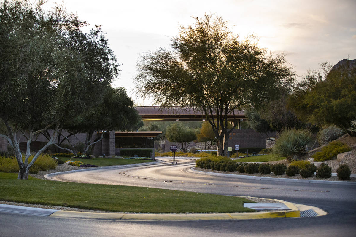 The entrance to The Ridges, a luxury community in Summerlin in Las Vegas on Saturday, Jan. 2, 2 ...