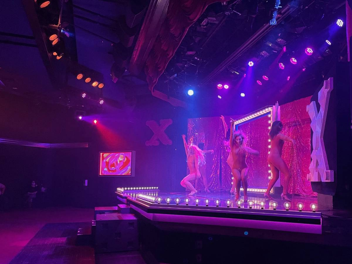 """A socially distant number in """"X Burlesque"""" at Flamingo is shown on Thursday, Jan. 9, 2021. (Sta ..."""