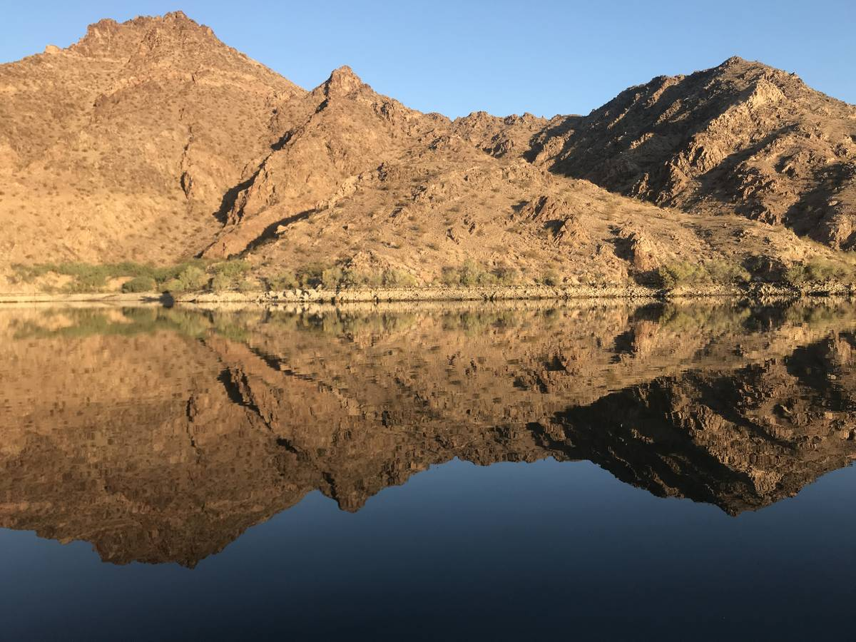 The shorelines of Lake Mohave and Lake Mead can be rugged and challenging for anglers to access ...