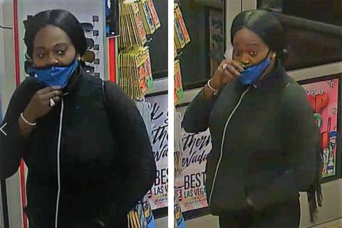 Police are seeking this woman in connection to a robbery that occurred Saturday, Dec. 26, 2020, ...