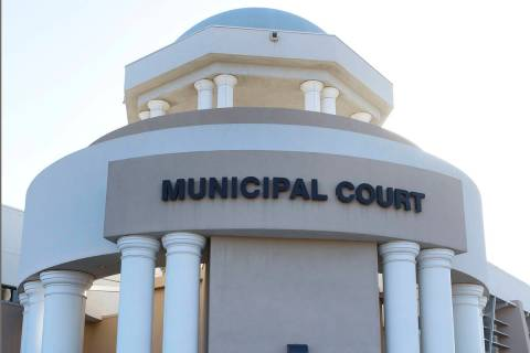 This March 7, 2015, file photo shows the Municipal Court in North Las Vegas. (Bizuayehu Tesfaye ...