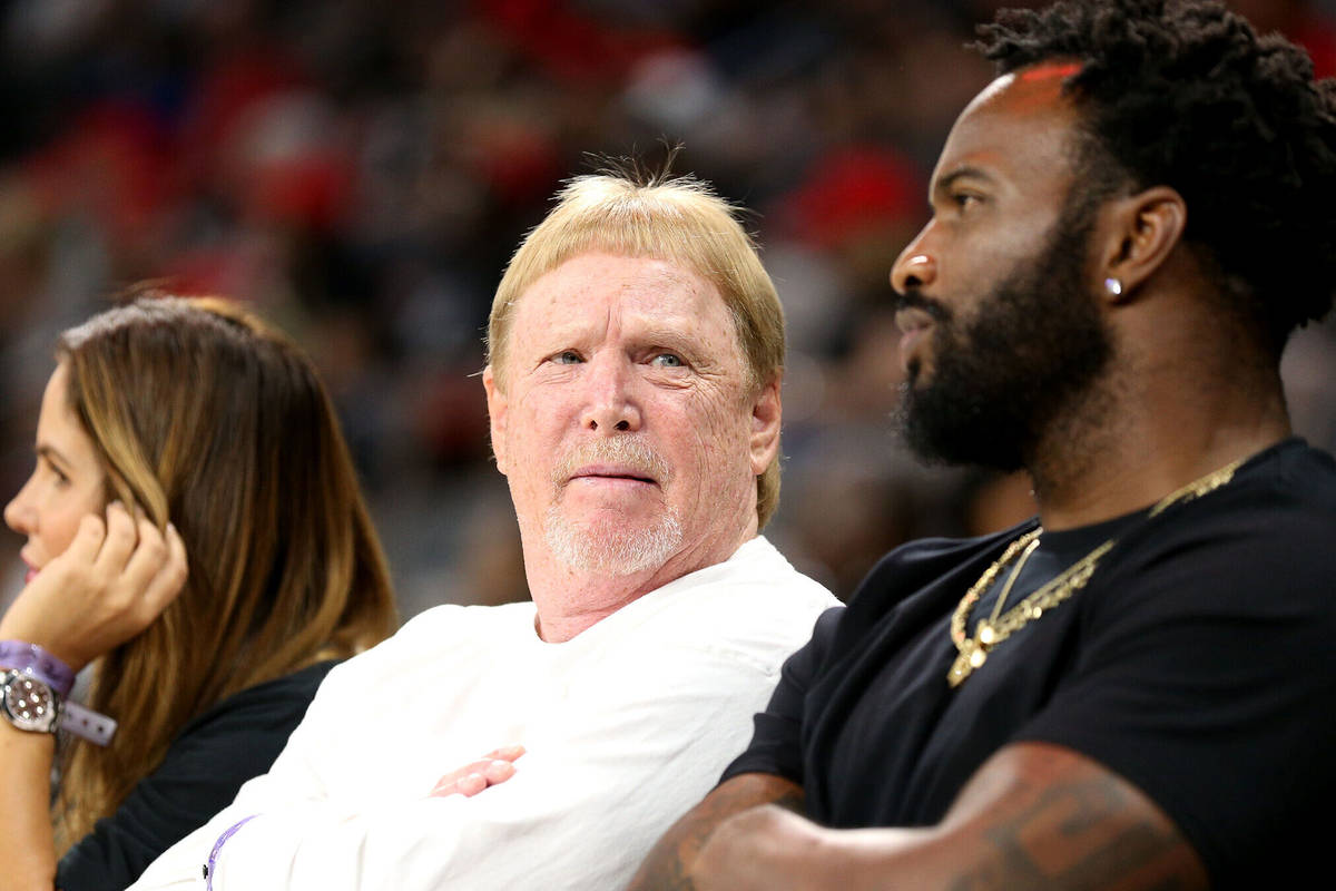 Raiders Coach Mark Davis at the Las Vegas Aces game at the Mandalay Bay Events Center in Las Ve ...