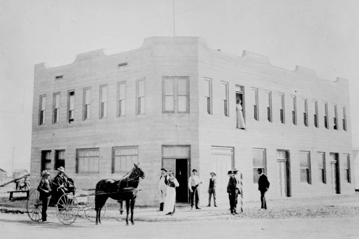 Golden Gate (then Hotel Nevada) in 1906. (Golden Gate Hotel & Casino)