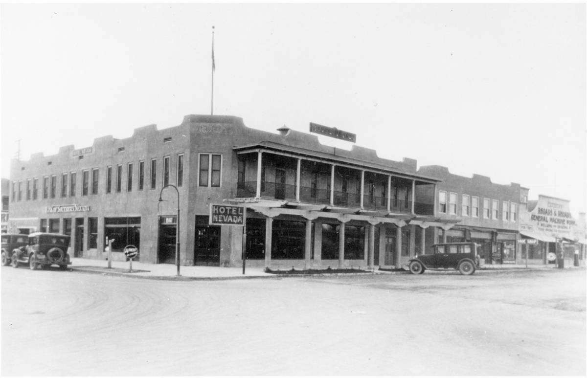 Golden Gate (then Hotel Nevada) in the early 1920s. (Golden Gate Hotel & Casino)