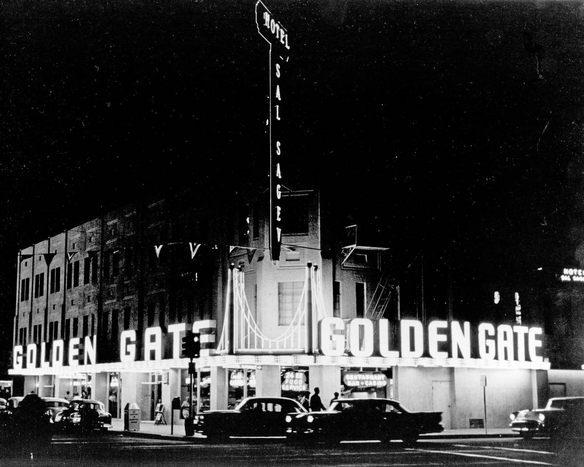 Golden Gate and Hotel Sal Sagev pictured in the late 1950s. (Golden Gate Hotel & Casino)
