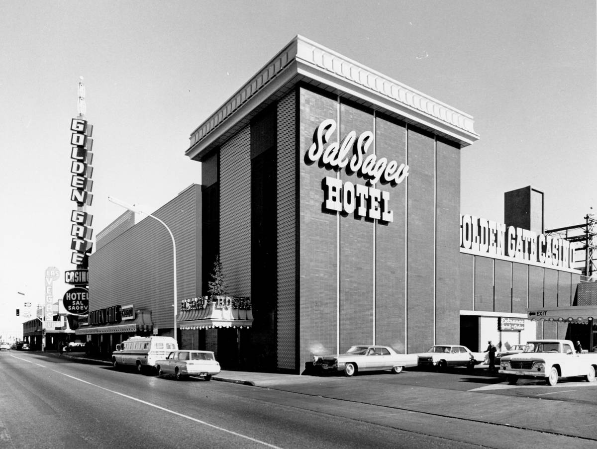 Redesigned Golden Gate and Hotel Sal Sagev in 1965. (Golden Gate Hotel & Casino)