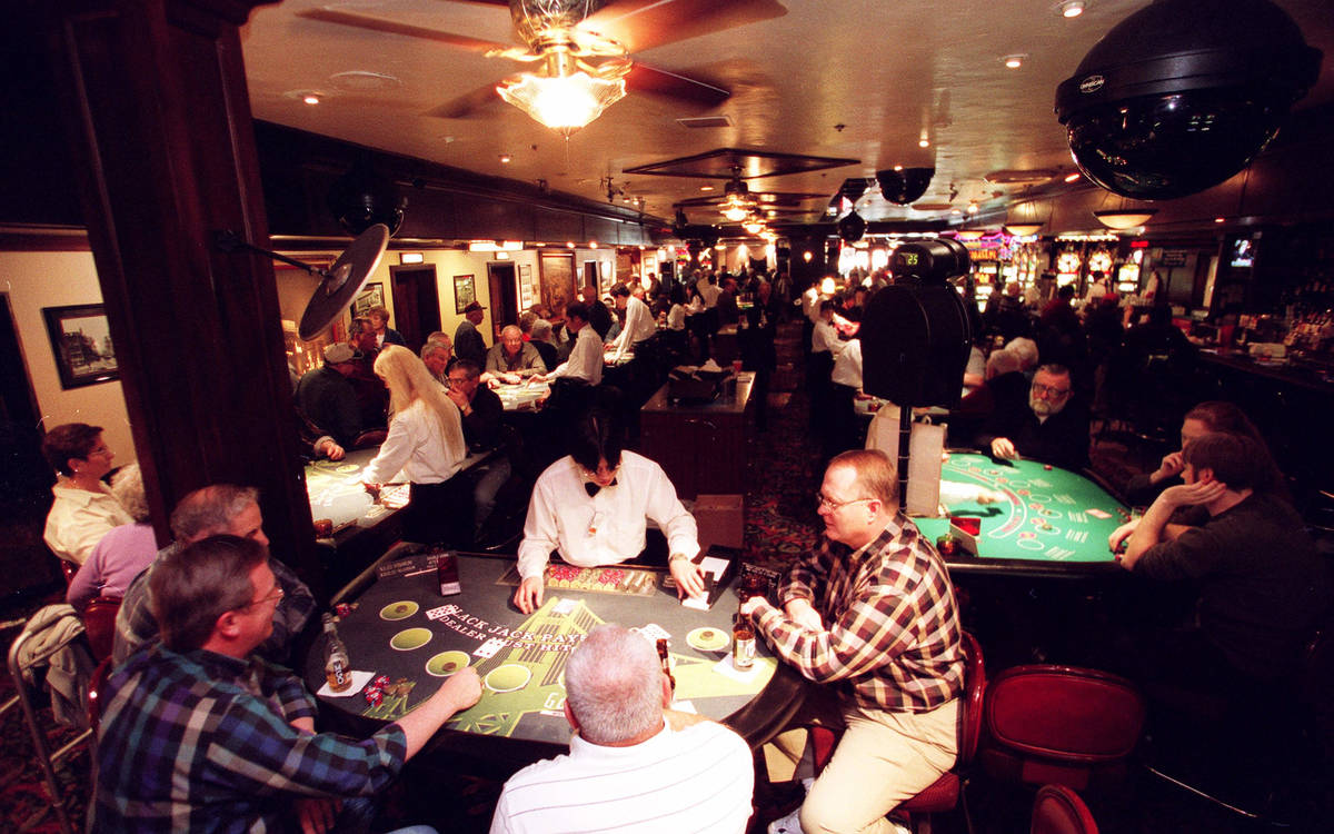 Interior view of the Golden Gate's blackJack area pictured in 2002. (Review-Journal file)