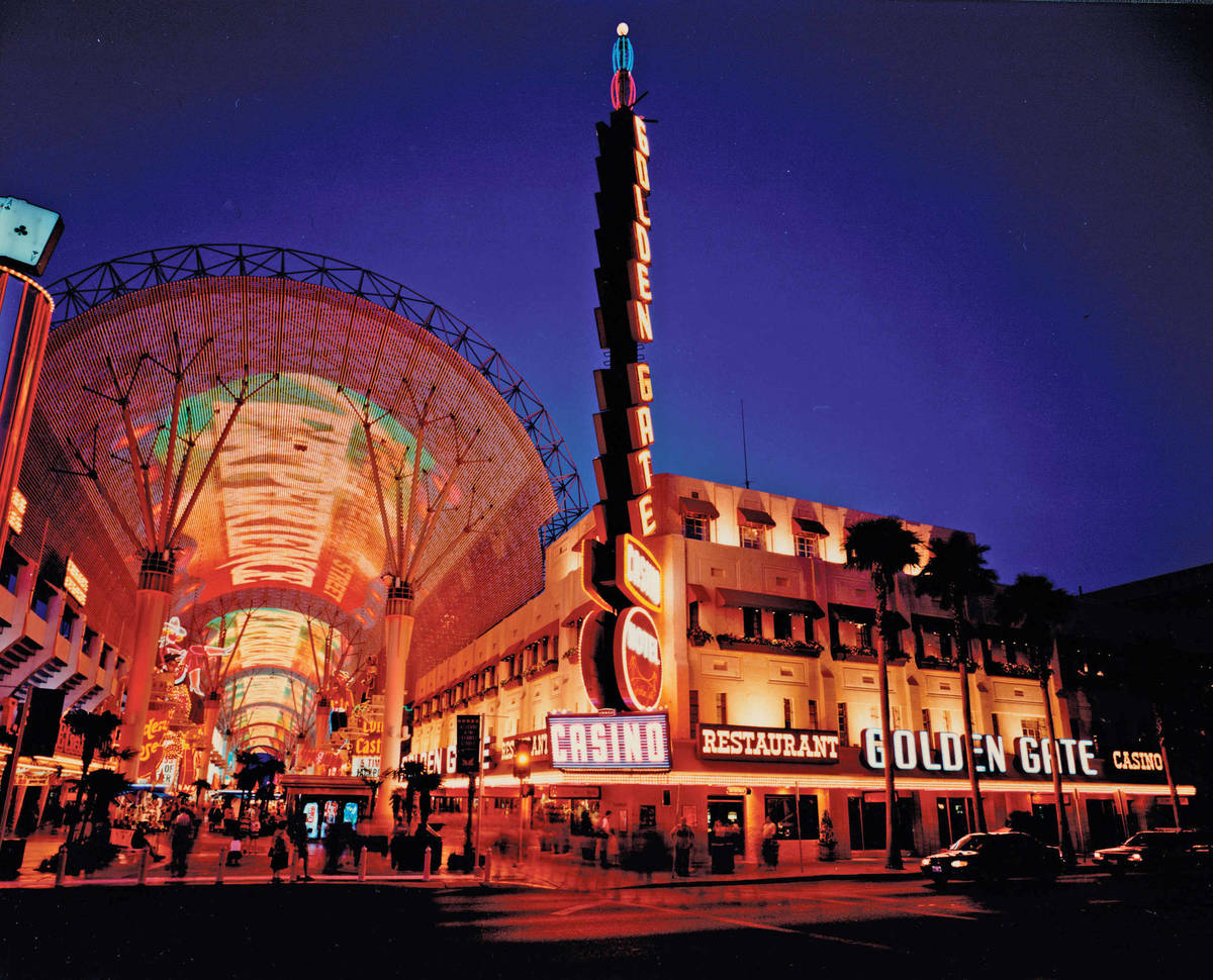 Fremont Street Experience and Golden Gate in 1998. (Golden Gate Hotel & Casino)