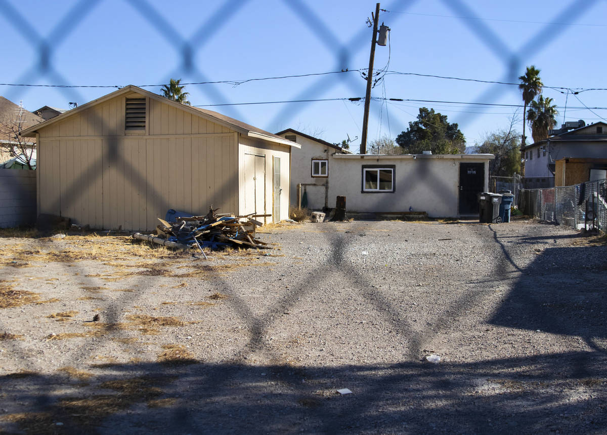 A small house at 1904 Hoover St. is photographed, on Friday, Jan. 15, 2021, in North Las Vegas. ...
