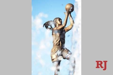 A'ja Wilson statue at the University of South Carolina. (Las Vegas Aces)