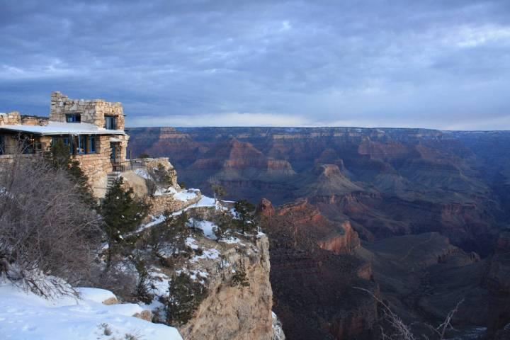 Kolb Studio sits directly on the rim of the Grand Canyon.(Deborah Wall Las Vegas Review-Journal)