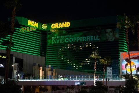 MGM Grand at Las Vegas Boulevard South and East Tropicana Avenue on the Las Vegas Strip. (Benja ...