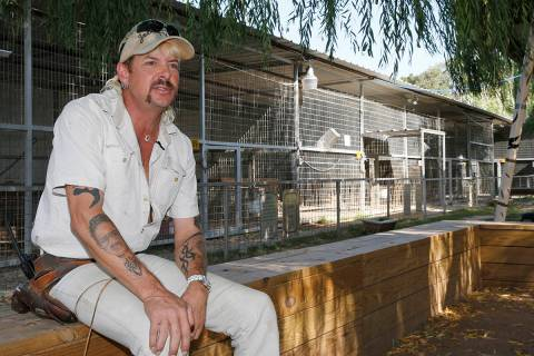 In this Aug. 28, 2013, file photo, Joseph Maldonado-Passage, also known as Joe Exotic, is seen ...