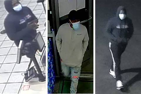 Police are seeking this man in connection to a series of armed robberies across the Las Vegas V ...