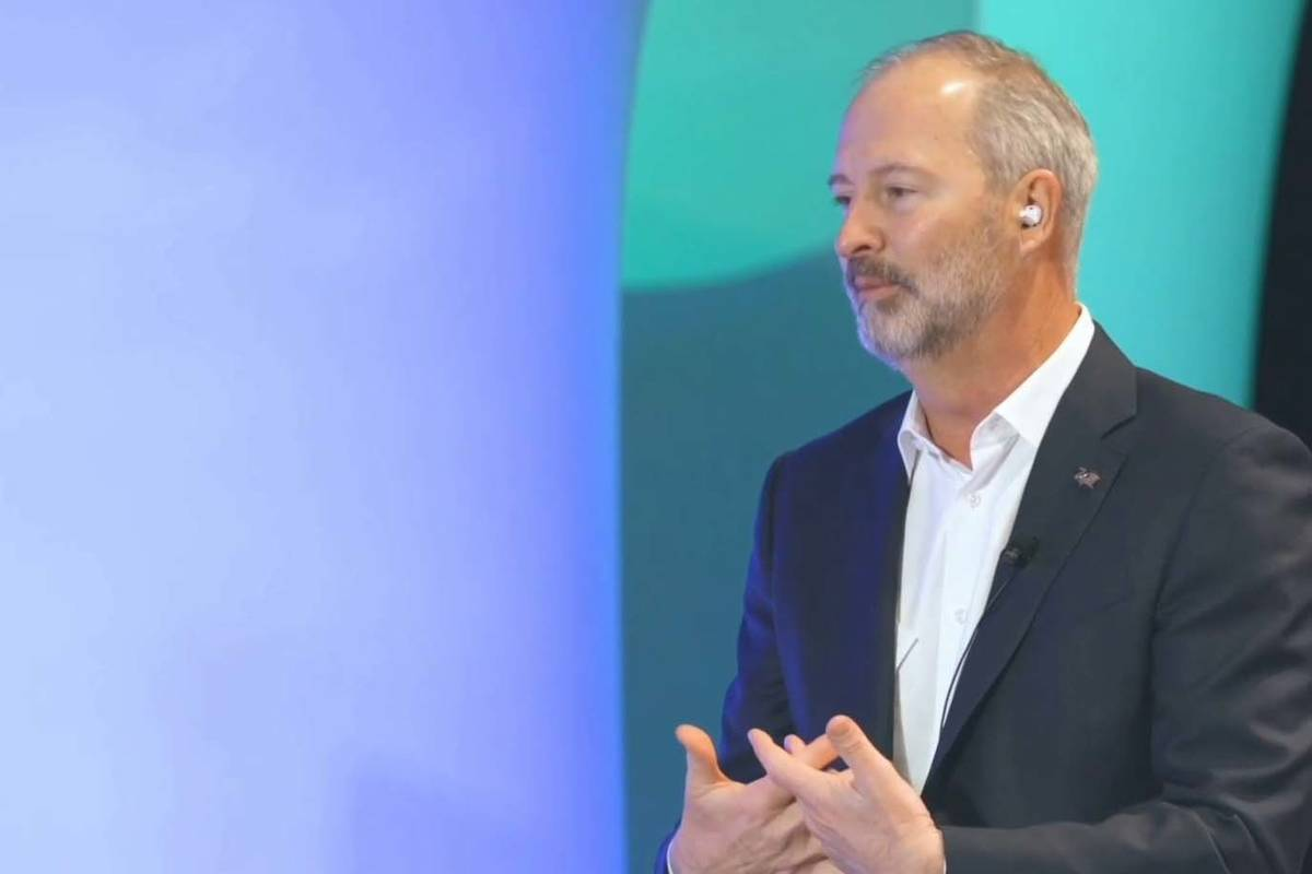 Steve Hill, president and CEO of the Las Vegas Convention and Visitors Authority, speaks at Pre ...