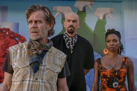 From left, William H. Macy as Frank Gallagher, Steve Howey as Kevin Ball and Shanola Hampton as ...