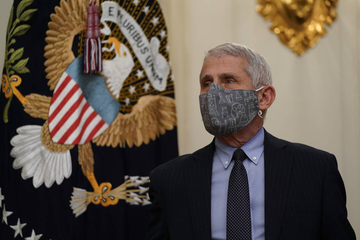 Dr. Anthony Fauci, director of the National Institute of Allergy and Infectious Diseases, arriv ...