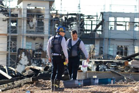 A team of Alcohol, Tobacco, Firearms and Explosives (ATF) investigators at the under constructi ...