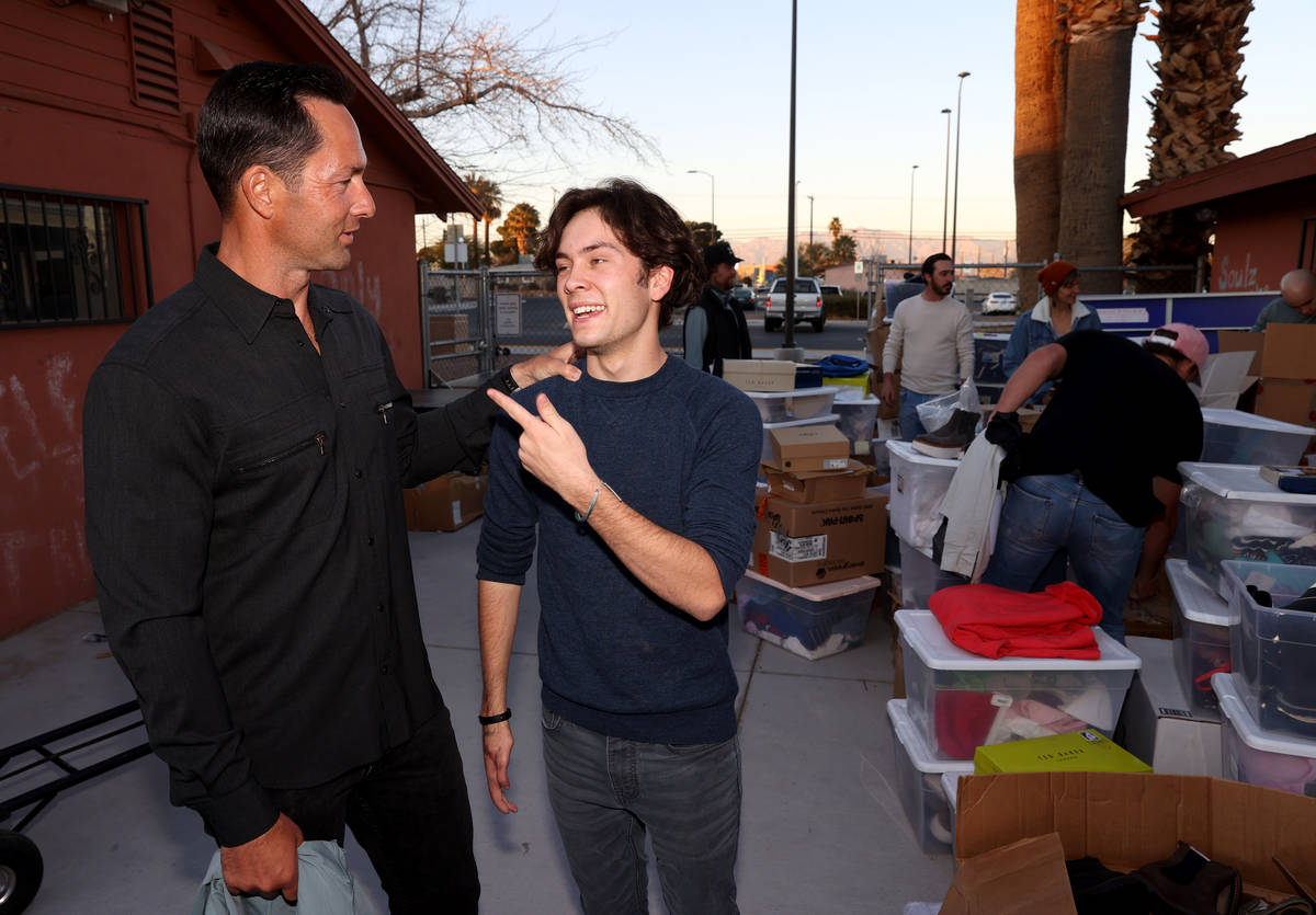 Kyle Kimoto visits with his son Kru Kimoto, 17, at Jewel's Marty Hennessy Inspiring Children Fo ...