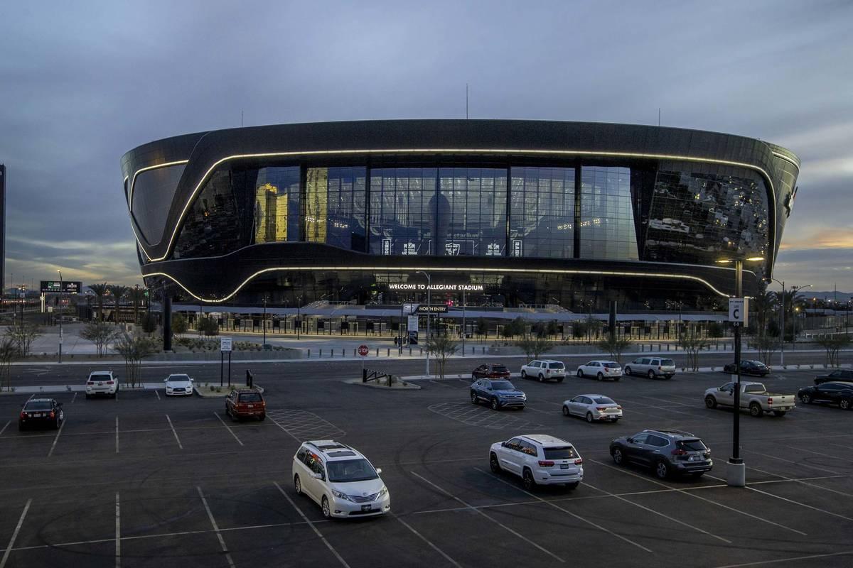 Allegiant Stadium on Tuesday, Jan. 12, 2021, in Las Vegas. (L.E. Baskow/Las Vegas Review-Journa ...