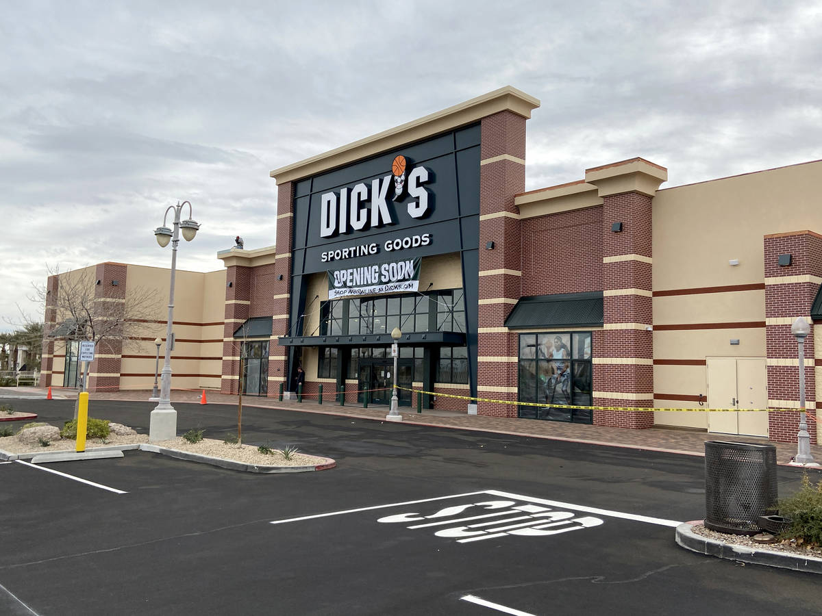 Dick's Sporting Goods store at Crossroads Commons, a Las Vegas strip mall at the southeast corn ...