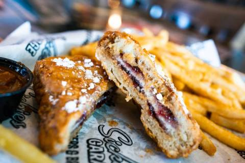 PB&J Monte Cristo at Sickies Garage Burgers & Brews. (Sickies)