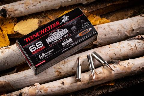 The new 6.8 Western cartridge is built on a shortened .270 Winchester Short Magnum case so it c ...