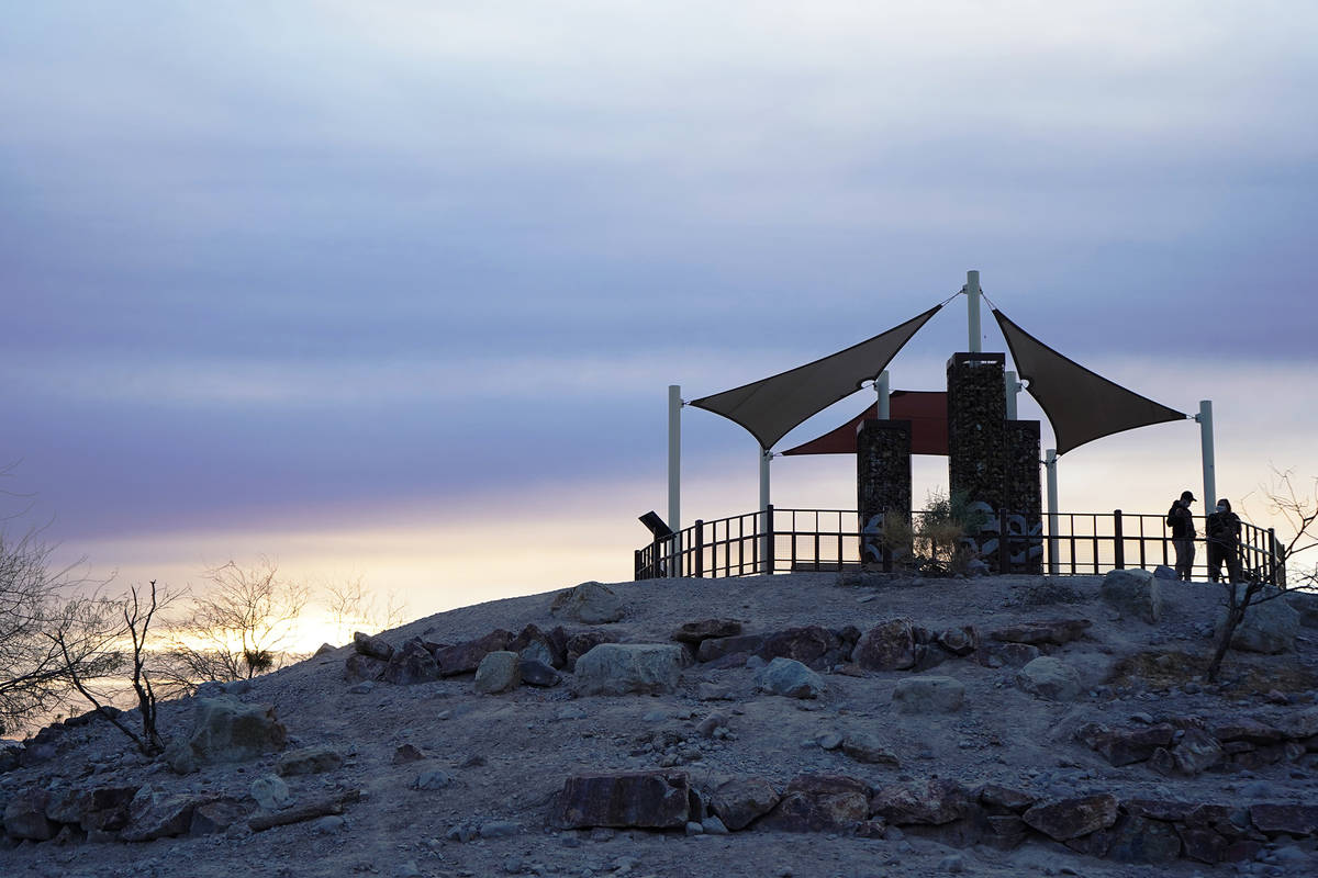 A view of Sunset Park's Dunes Discovery Area overlook as the sun sets in mid-January. (Natali ...