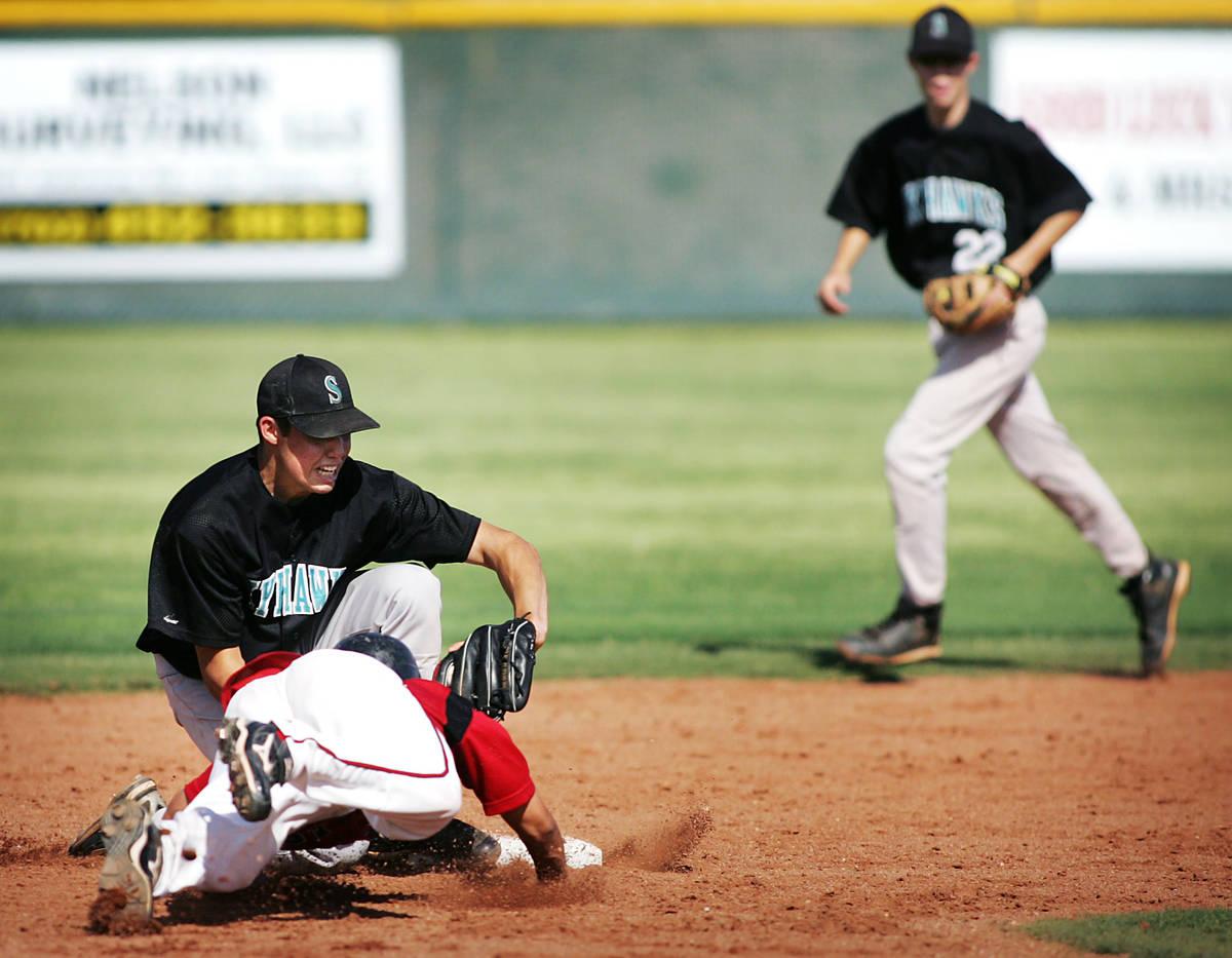 RJ FILE*** JASON BEAN/LAS VEGAS REVIEW-JOURNAL Las Vegas High School baseball player Timothy ...