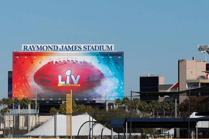 The cost of a 30-second TV ad will cost $5.6 million for Sunday's Super Bowl from Raymond James ...