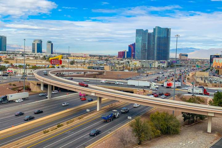 The Interstate 15 and Tropicana Avenue interchange, seen in January 2019, is set for a $200 mil ...