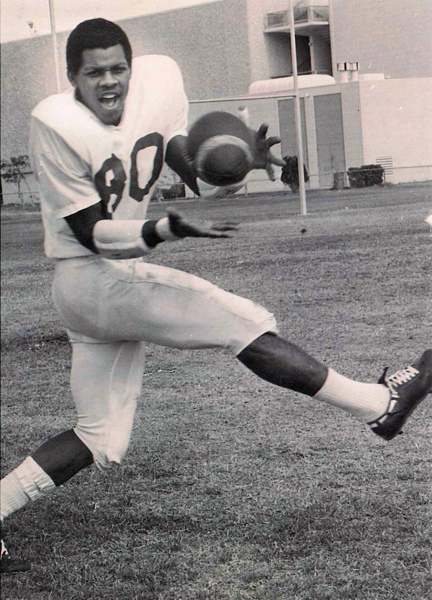 Wide receiver Nate Hawkins played at UNLV from 1968 to 1971. He died Jan. 31. Photo courtesy of ...